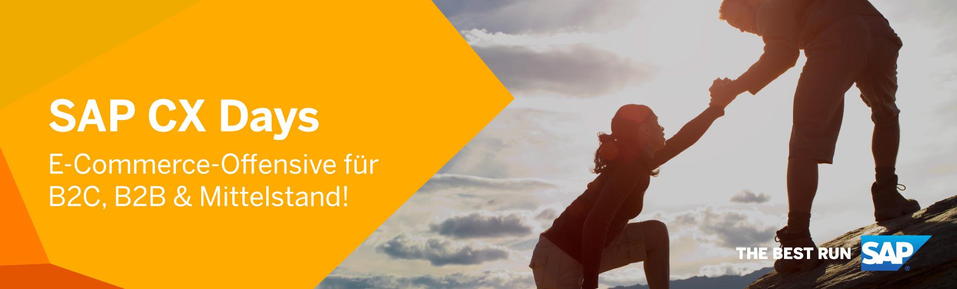 SAP CX Days 2021: Das Event zu den Themen CRM, E-Commerce, Customer Experience, Personalisierung.