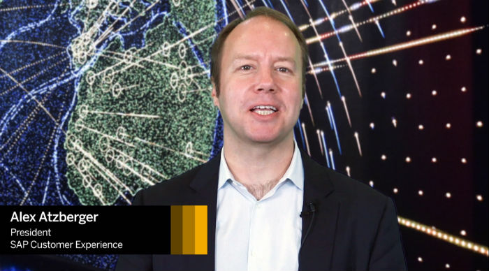 Alex Atzberger invites you to SAP Customer Experience LIVE