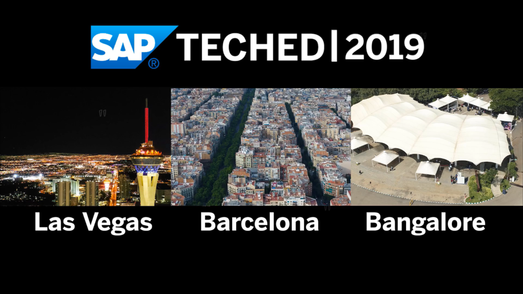 SAP TechEd in 2019 - Highlights <br>Watch the great moments from all 3 events.