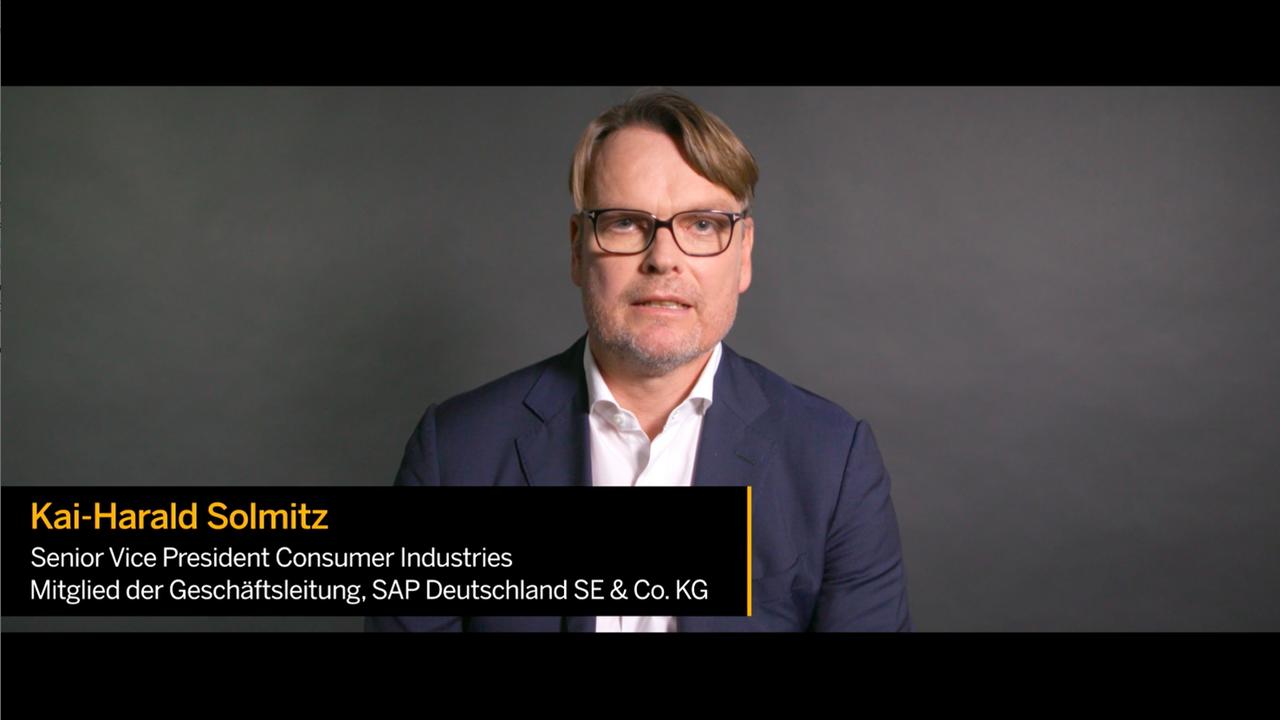Kai-Harald Solmitz spricht zu RISE with SAP für Consumer Industries